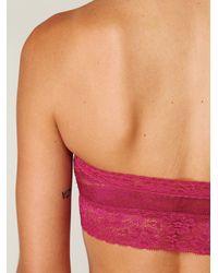 Free People - Pink Lace Trim Bandeau - Lyst