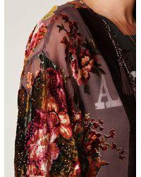 Free People | Brown English Rose Devore Kimono | Lyst