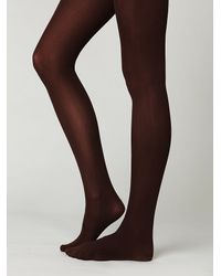 Free People | Brown London Opaque Tights | Lyst