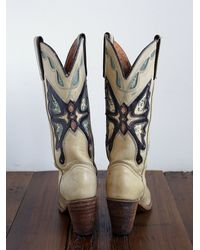 Free People - Natural Vintage Cowboy Boots - Lyst