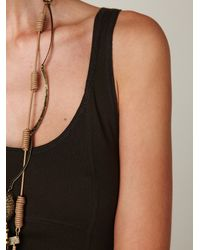 Free People | Green Seamed Open Back Maxi Dress | Lyst