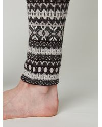 Free People | Gray Poconos Sweater Legging | Lyst