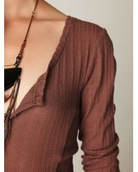 Free People - Brown Moon Duster Maxi - Lyst
