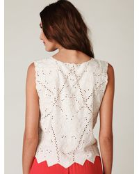 Free People | Multicolor Lahaina Eyelet Tank | Lyst