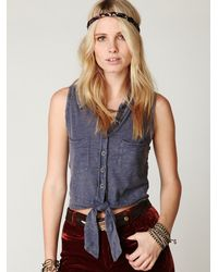 Free People | Blue We The Free Applique Raven Vest | Lyst