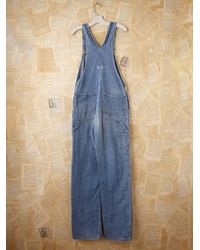 Free People | Blue Vintage Big Smith Overalls | Lyst