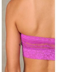 Free People | Purple Lace Trim Bandeau | Lyst