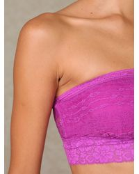 Free People - Purple Lace Trim Bandeau - Lyst