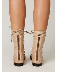 Free People | Natural Napoli Corset Sandal | Lyst