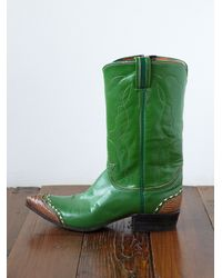 Free People | Green Vintage Cowboy Boots | Lyst