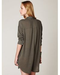 Free People | Gray Romper Stomper | Lyst