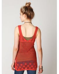 Free People | Engineered Crochet Tank | Lyst