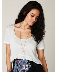 Free People | White Super Soft Weekend Layering Top | Lyst
