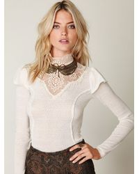 Free People | White Always On My Mind Top | Lyst