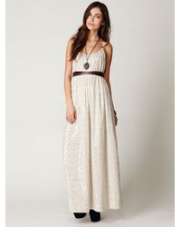 Free People | White Fp New Romantics Foiled Maxi Dress | Lyst