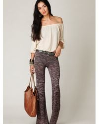Free People - White Pointelle Peasant Top - Lyst