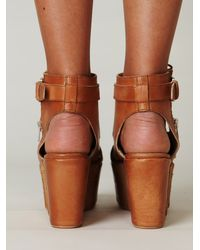 Free People | Brown Benelli Platform | Lyst