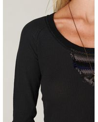 Free People - Black We The Free Eco Thermal Raglan - Lyst