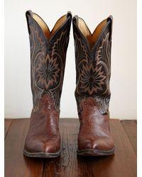 Free People - Brown Vintage Cowboy Boots - Lyst