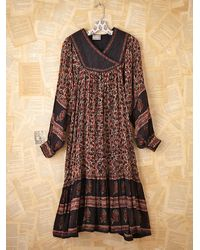 Free People | Multicolor Vintage Floral Printed Dress | Lyst