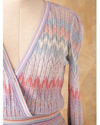 Free People | Multicolor Vintage Long Sleeve Knit Dress | Lyst