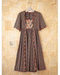 Free People | Brown Vintage Printed Dress | Lyst