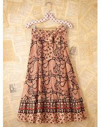 Free People | Multicolor Vintage 1980s Printed Skirt | Lyst