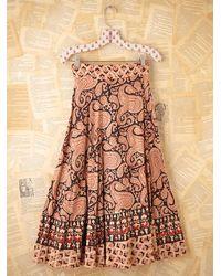 Free People   Multicolor Vintage 1980s Printed Skirt   Lyst