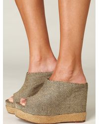 Free People | Natural Amanda Mule Wedge | Lyst