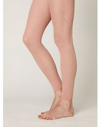 Free People | Natural Fanfare Footless Tight | Lyst