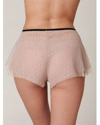 Free People | Natural Delphine Spot Mesh Bloomer | Lyst