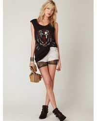 Free People - Green All Over Lace Shorts - Lyst