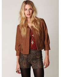 Free People | Green Fp High Waisted Printed Shorts | Lyst