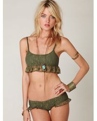 Free People - Green Fabulous Frenchie Bottoms - Lyst