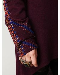 Free People | Purple Jaipur Pullover Tunic | Lyst