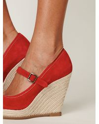 Free People - Red Mary Jane Espadrille - Lyst