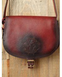 Free People - Red Tonya Saddle Bag - Lyst