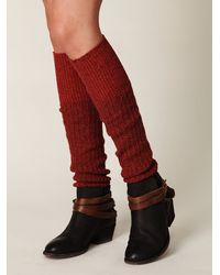 Free People - Red Rib Slouch Tall Sock - Lyst