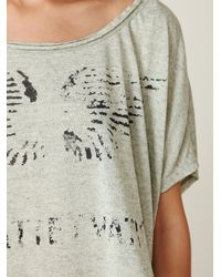 Free People - Green We The Free Graphic Boxy Tee - Lyst
