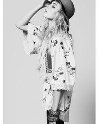 Free People | Pink Printed Kimono | Lyst