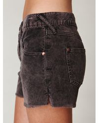 Free People | Black Fp Corduroy Cutoffs | Lyst