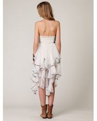 Free People | White Fp One Cascade Of Ruffles Slip | Lyst
