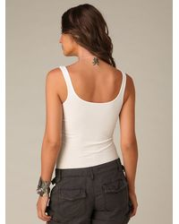 Free People - White Seamless Scoop Tank - Lyst