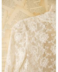 Free People - White Vintage Sheer Lace Shrug - Lyst