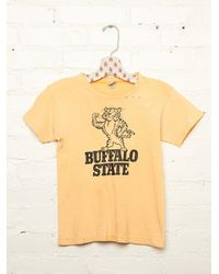 Free People | Yellow Vintage Buffalo State Tee | Lyst