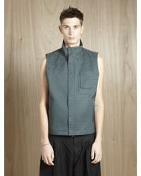 Jil Sander | Green Mens Quilted Senna Vest for Men | Lyst