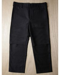 Unused | Black Mens Wool Cropped Trousers for Men | Lyst