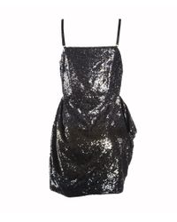 AllSaints - Blue Velutina Strap Dress - Lyst