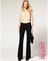 ASOS Collection - Black Asos Petite Exclusive Bootcut Trousers - Lyst