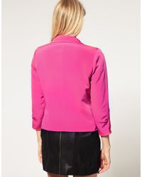 ASOS Collection - Purple Asos Petite Exclusive Cropped Blazer - Lyst